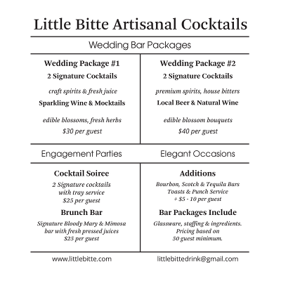 Little-Bitte-Wedding-Services Brochure Spring 2016